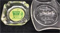 2 Vintage Holiday Inn Glass Ashtrays