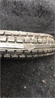 Vintage Tire Ashtray Rubber and Glass Seiberling