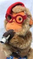 Vintage Battery Operated Mechanical Monkey Figure