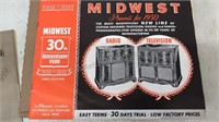 Lot of 2 1950 Retail Catalogs MidWest Radio &