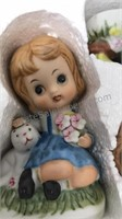 Vintage Set of Ceramic Figurines Still In