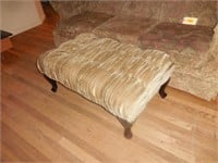 Living Room Couch, Tan Ottoman