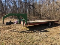 Backhoe Trailer 20' Long Bed (without the tonge)