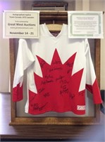 1972 Team Canada Replica Jersey Charity Online Auction