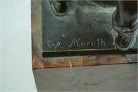 FWB MORATH (20th CENTURY) BRONZE BLACKSMITH