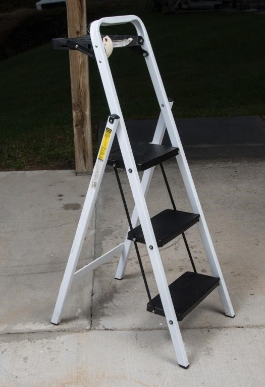 Pleasant Tricam 30 Step Ladder With Folding Tray The K And B Machost Co Dining Chair Design Ideas Machostcouk