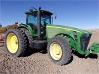 JD 8230 Tractor, MFD, shows 4550 Hrs, 1500 Front Axle, IVT, 480/80 R50 Tires, Duals, 4 Hyd Valves, 3 pt, PTO, Quick Hitch, Front Wts, Rear Whl Wts, Auto Trac Ready, 60 GPM Hyd Pump