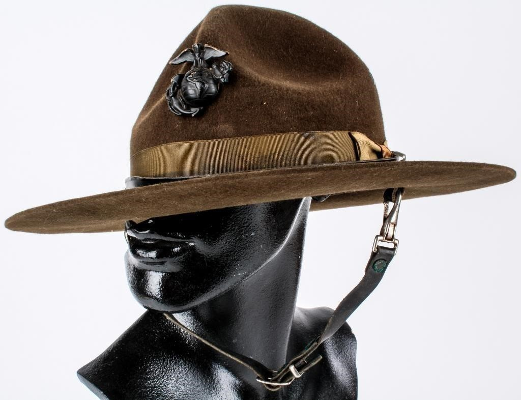 US Marine Corps Drill Sergeant Campaign Hat | HiBid Auctions