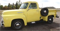 1954 Ford F-100 Pickup, 302 gas eng, Borg Warner T-10 4-spd trans, restored, runs, very nice cond (has title) View 1