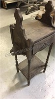 Antique wood entry stand