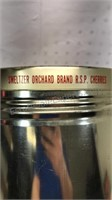 Smeltzer Orchard Brand Cherries Metal container