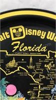 Vintage Walt Disney Souvenir Round Metal Tray