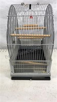 Vintage Hendryx metal bird cage with cast iron