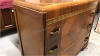 Art Deco Waterfall, 3 Drawer Dresser 45in wide
