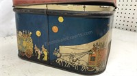 1940s Supreme Biscuit  Animal Show Container with