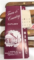 Vintage Town & Country 9pc Knife Set