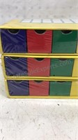Vintage 10 mini drawer Organizers from Lee Wards