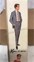Vintage 1961 Mattel Ken Doll In Original Box