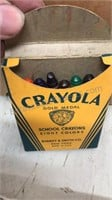 Lot of Vintage Crayola Crayons 5 boxes and a bag