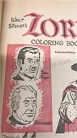 Lot of 2 Vintage Walt Disney Coloring Books