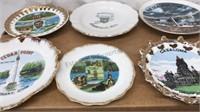 Lot of Vintage Travel Souvenir Mini Plates and