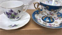 Lot of 4 Cup and Saucer Set