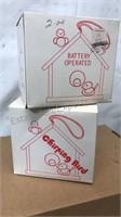 2  Vintage Chirping Bird Ceramic Novelties Still