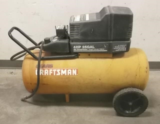 Sears Craftsman 4hp 25 Gallon Air Compressor United Country Musick Sons