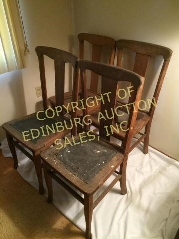 Amazing 1930S T Back Oak Dining Room Chairs Edinburg Auction Andrewgaddart Wooden Chair Designs For Living Room Andrewgaddartcom