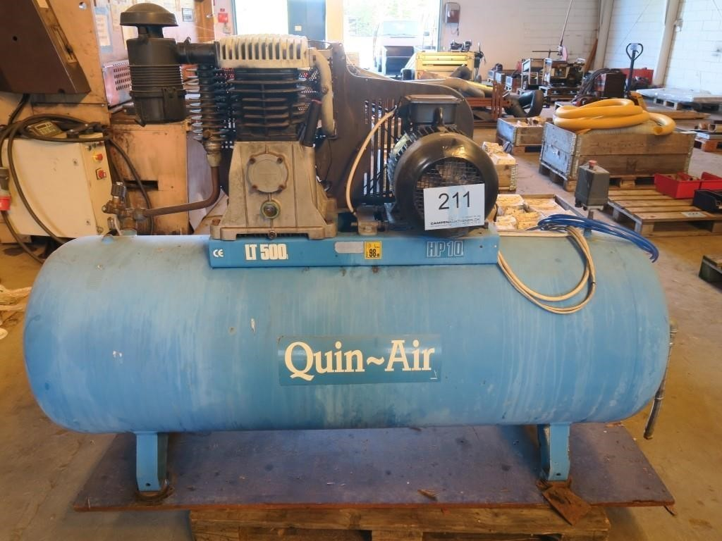 Kæmpestor Kompressor Quin Air HP 10 500 L | Campen Auktioner A/S DP58