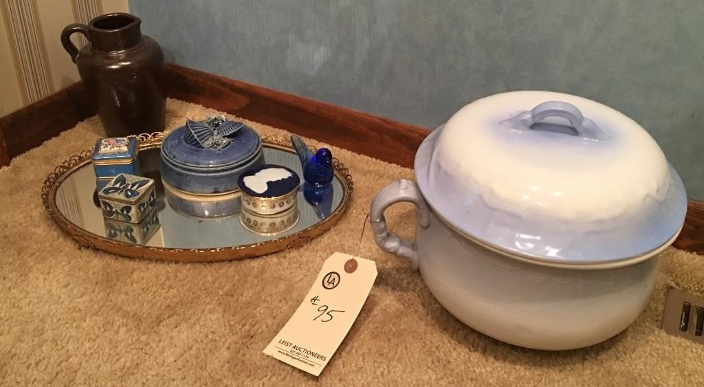 Thunder Mug and various jewelry containers | Leist Auctioneers