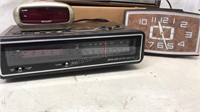 Lot of Vintage Electric Clocks and Radios Table