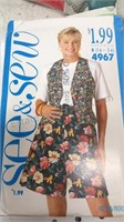 Large Box Of Vintage Sewing Patterns and Vintage