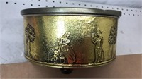 """Vintage 8x4"""" Tin of Buttons & Sewing Items"""