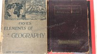 Lot of 4 Vintage & Antique Geography / Atlas /
