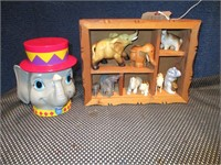 Shadow Box with 10 Elephants