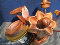 Danish Modern/ Mid Century Wood Sculpture