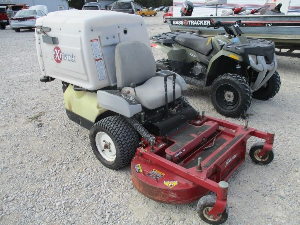 Exmark Navigator Zero Turn mower w/ bagger | Graber Auctions