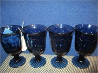Collectible Glass 4) Blue Vintage Goblets