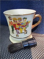 Shaving Mug and Brush, 1950's Musical