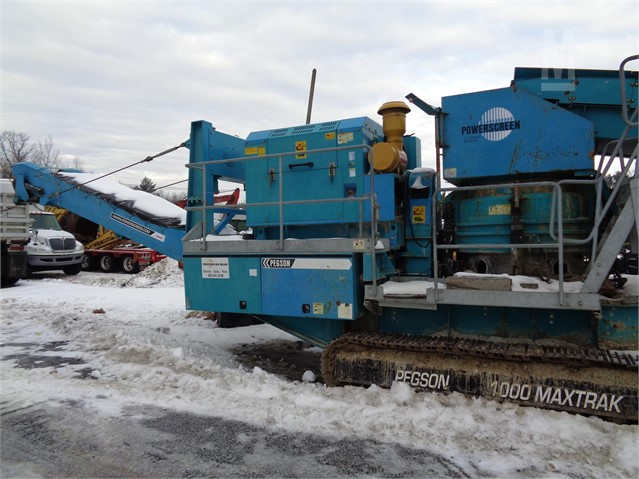 2012 POWERSCREEN 1000 MAXTRAK For Sale In Gray, Maine