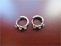 STERLING SILVER & WHITE SAPPHIRE EARRINGS
