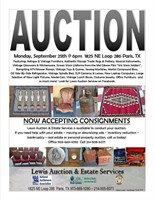 Lewis Auction Services - September Consignment Auction