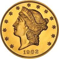ORIGINAL 1902 GOLD PROOF SET PCGS PR65-67 CAC