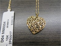 10K GOLD NECKLACE WITH PENDANT