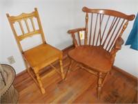 2) Wood Chairs