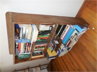 Wood Book Shelf with Collection of Books
