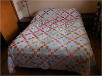 Mattress, Box Springs, Frame and Quilt