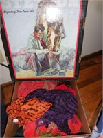 3) Stetson Boxes, Stetson Hat, Scarves