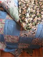Wood Quilt Rack, Heavy Homemade Quilt